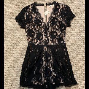 NWT Black Lace Romper